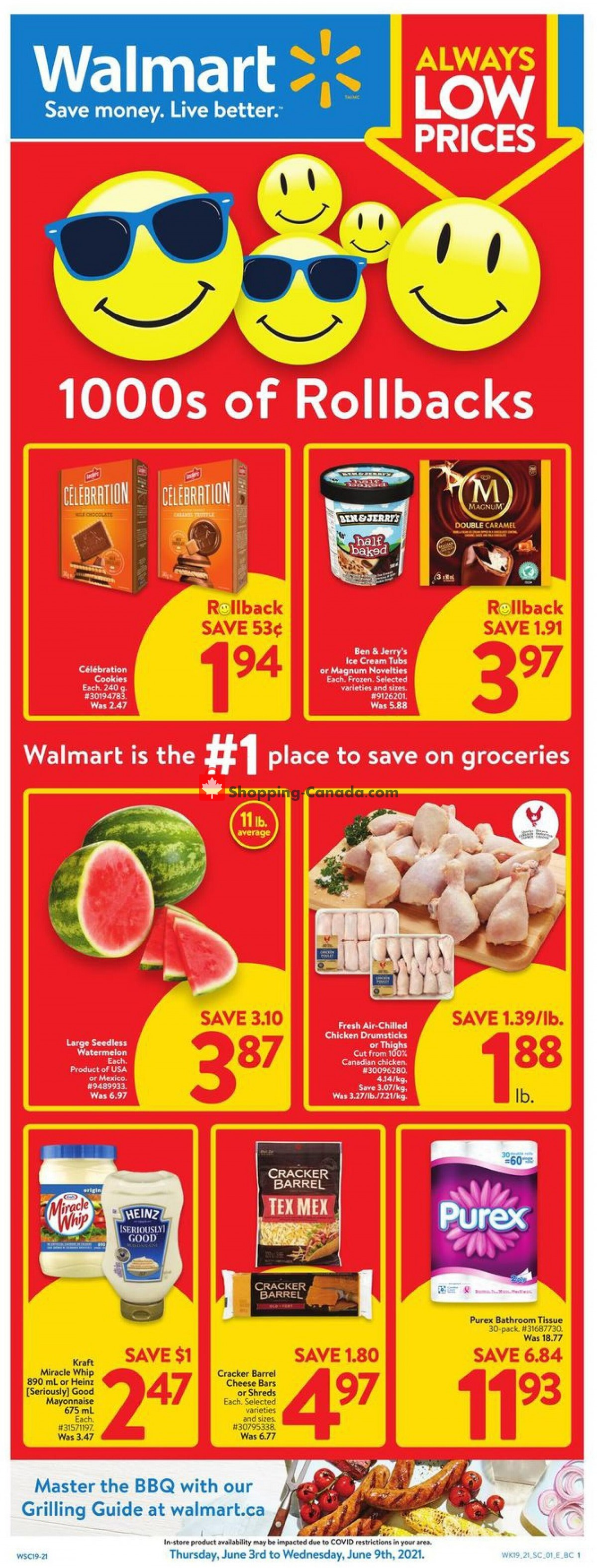 Flyer Walmart Canada - from Thursday June 3, 2021 to Wednesday June 9, 2021