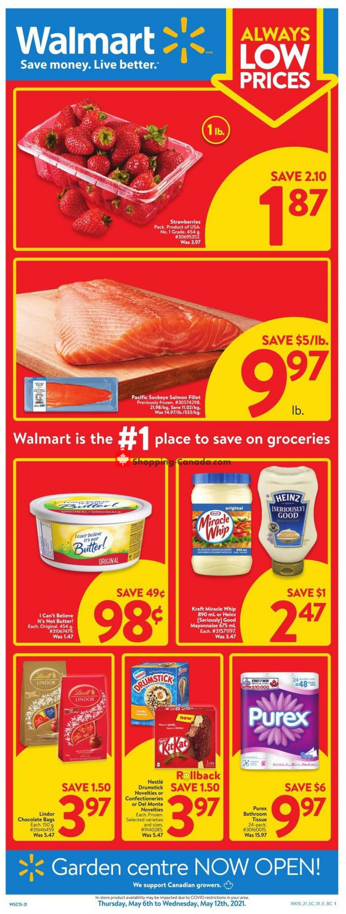 Flyer Walmart Canada - from Thursday May 6, 2021 to Wednesday May 12, 2021