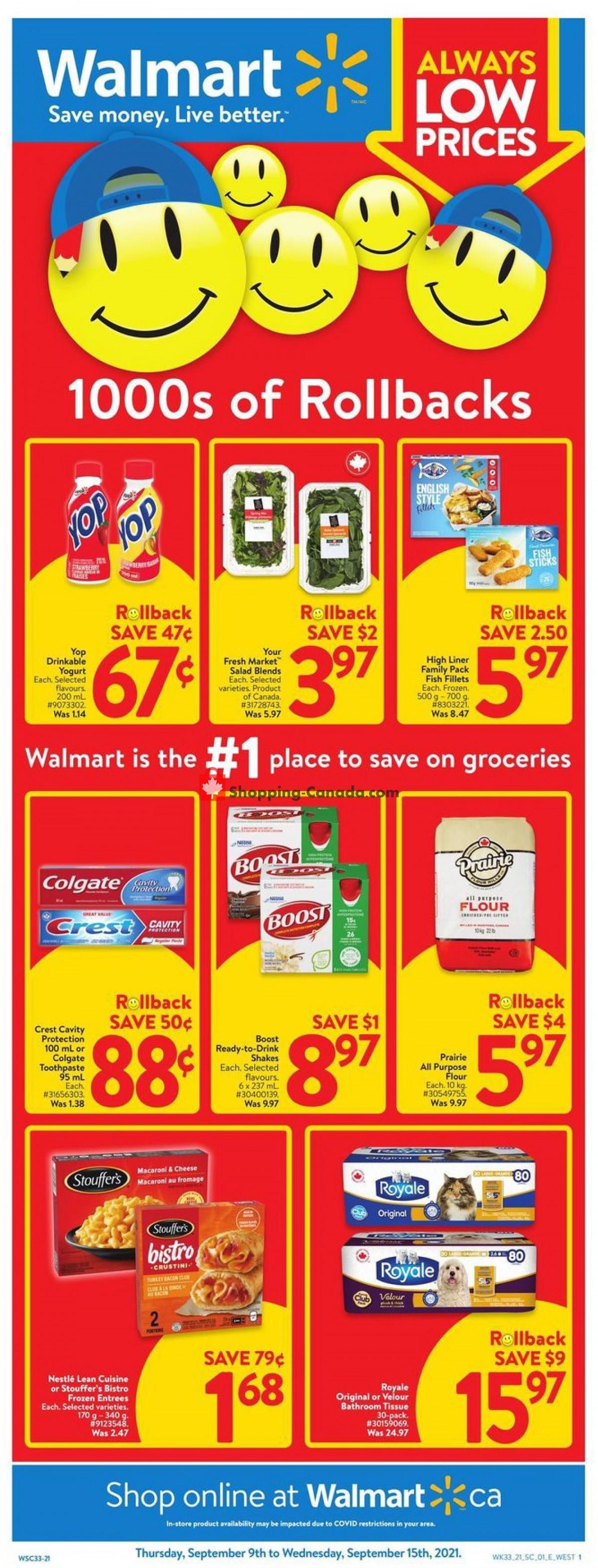 Flyer Walmart Canada - from Thursday September 9, 2021 to Wednesday September 15, 2021