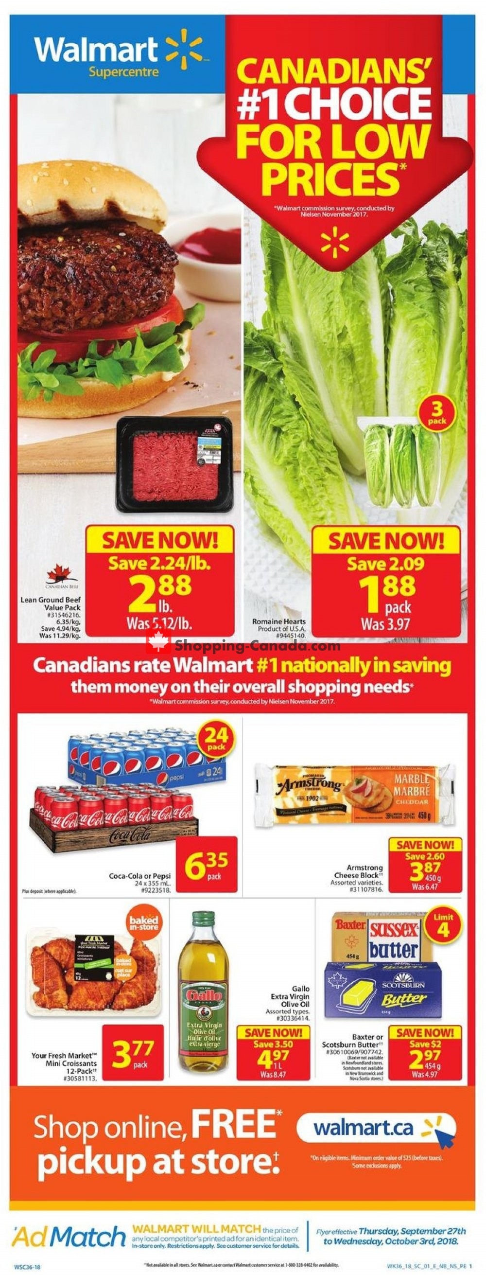 Flyer Walmart Canada - from Thursday September 27, 2018 to Wednesday October 3, 2018