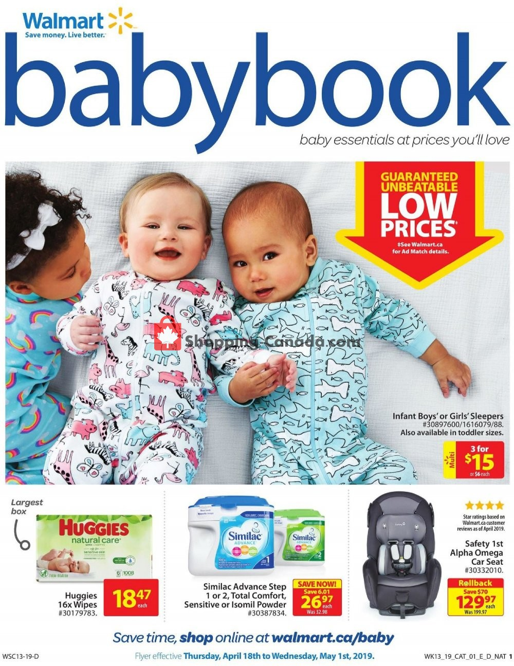 Flyer Walmart Canada - from Thursday April 18, 2019 to Wednesday May 1, 2019