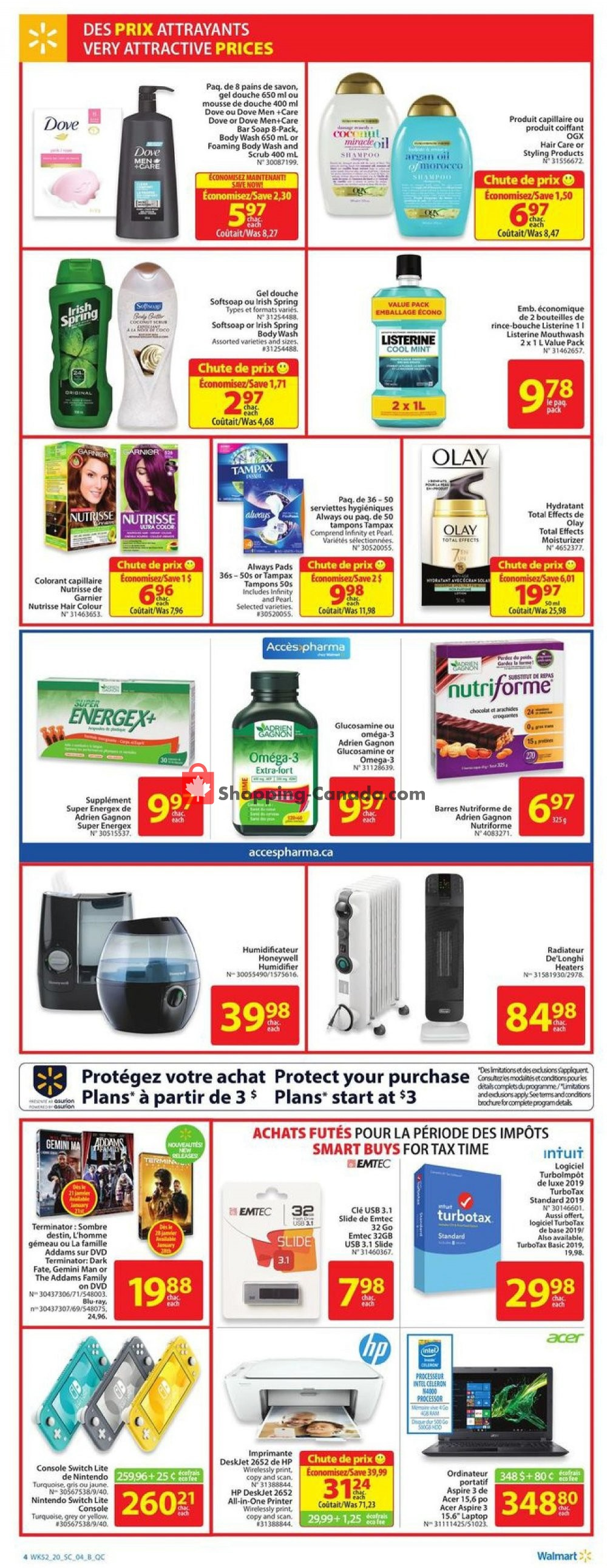 Flyer Walmart Canada - from Thursday January 16, 2020 to Wednesday January 22, 2020