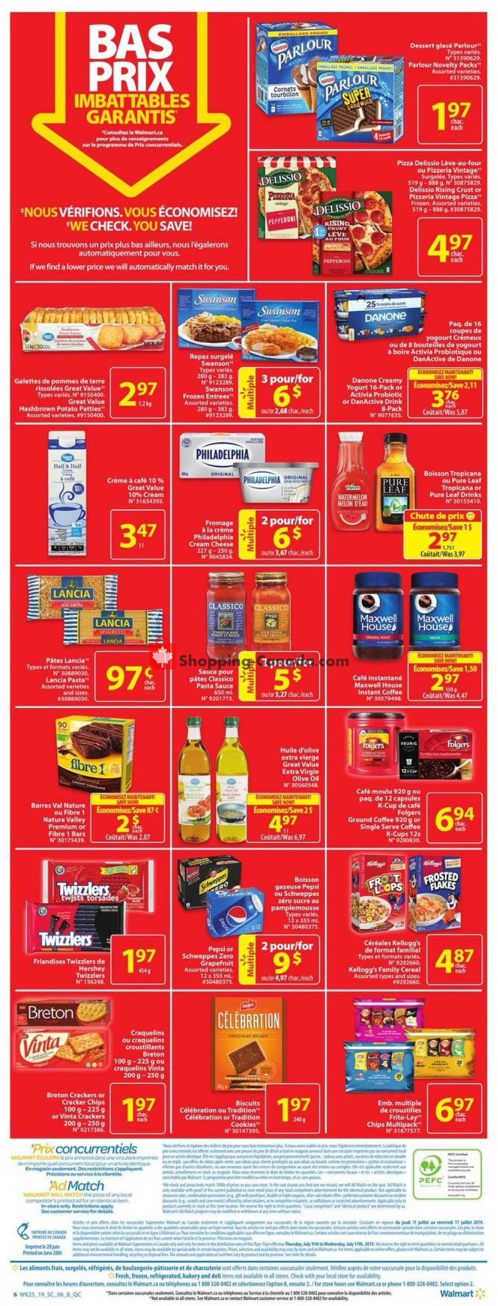 Flyer Walmart Canada - from Thursday July 11, 2019 to Wednesday July 17, 2019