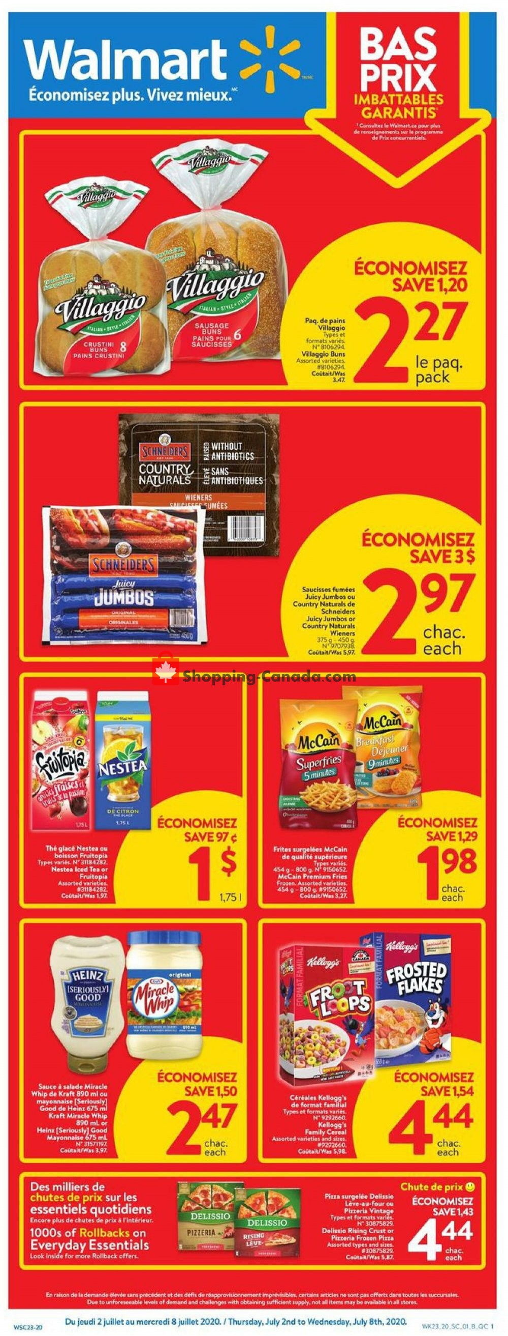 Flyer Walmart Canada - from Thursday July 2, 2020 to Wednesday July 8, 2020
