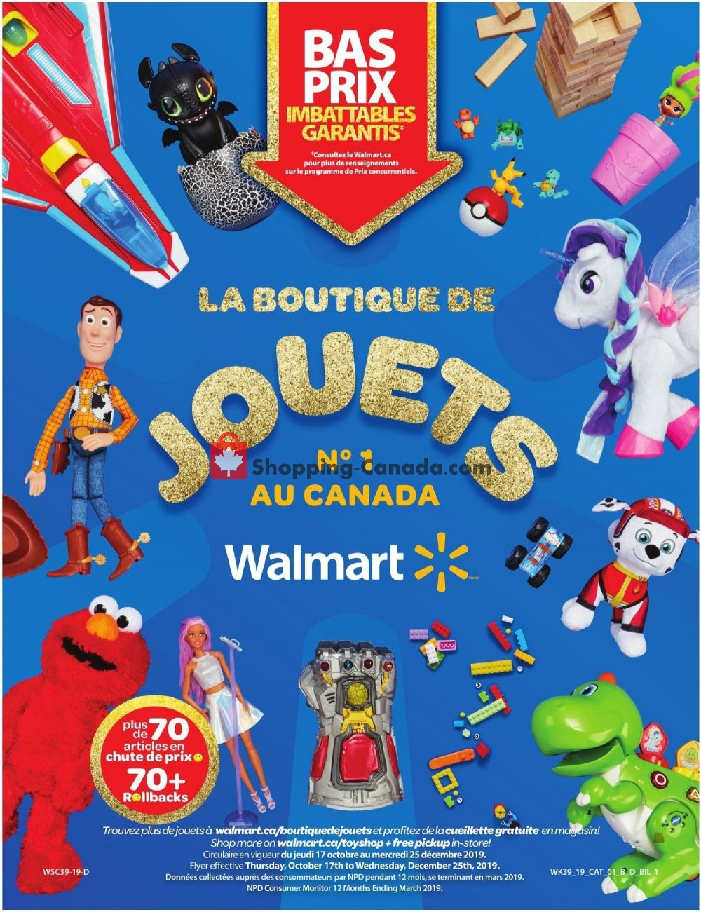 Flyer Walmart Canada - from Thursday October 17, 2019 to Wednesday December 25, 2019