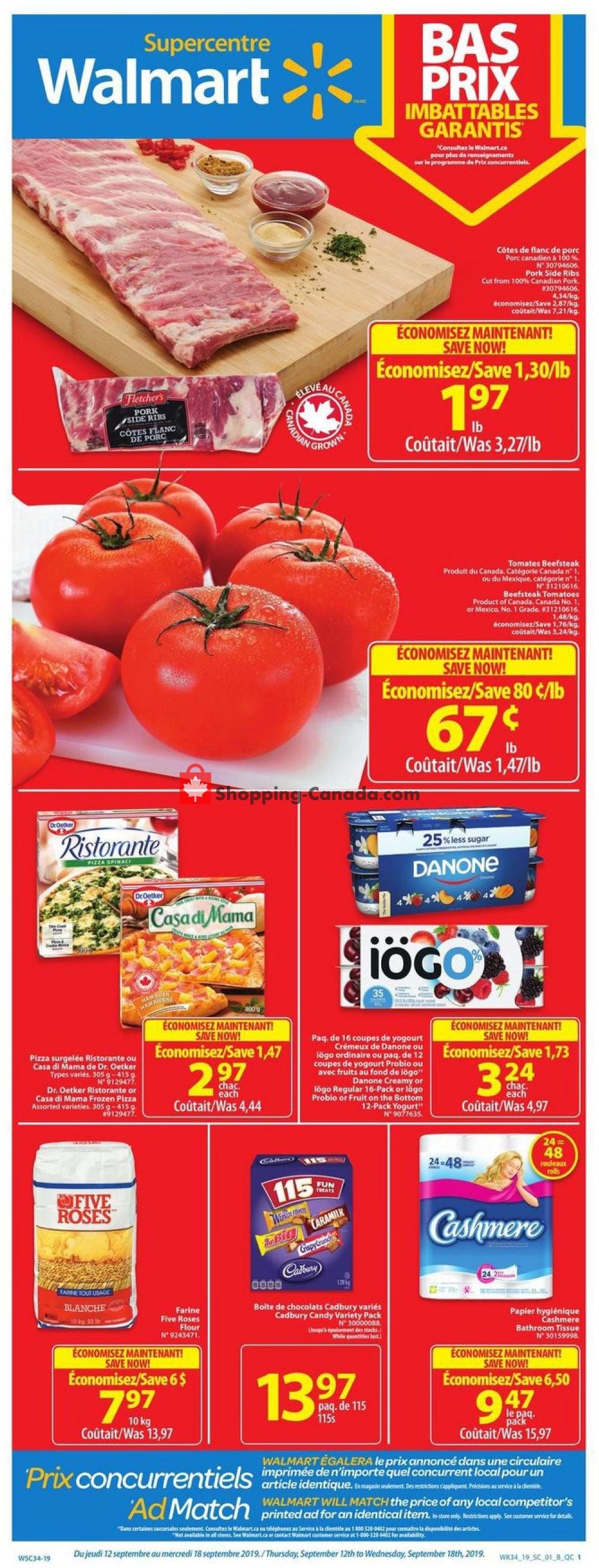 Flyer Walmart Canada - from Thursday September 12, 2019 to Wednesday September 18, 2019