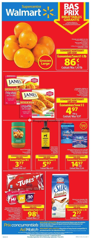 Flyer Walmart Canada - from Thursday September 5, 2019 to Wednesday September 11, 2019