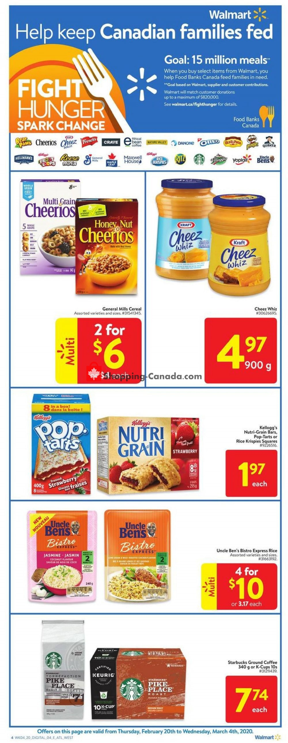 Flyer Walmart Canada - from Thursday February 20, 2020 to Wednesday March 4, 2020
