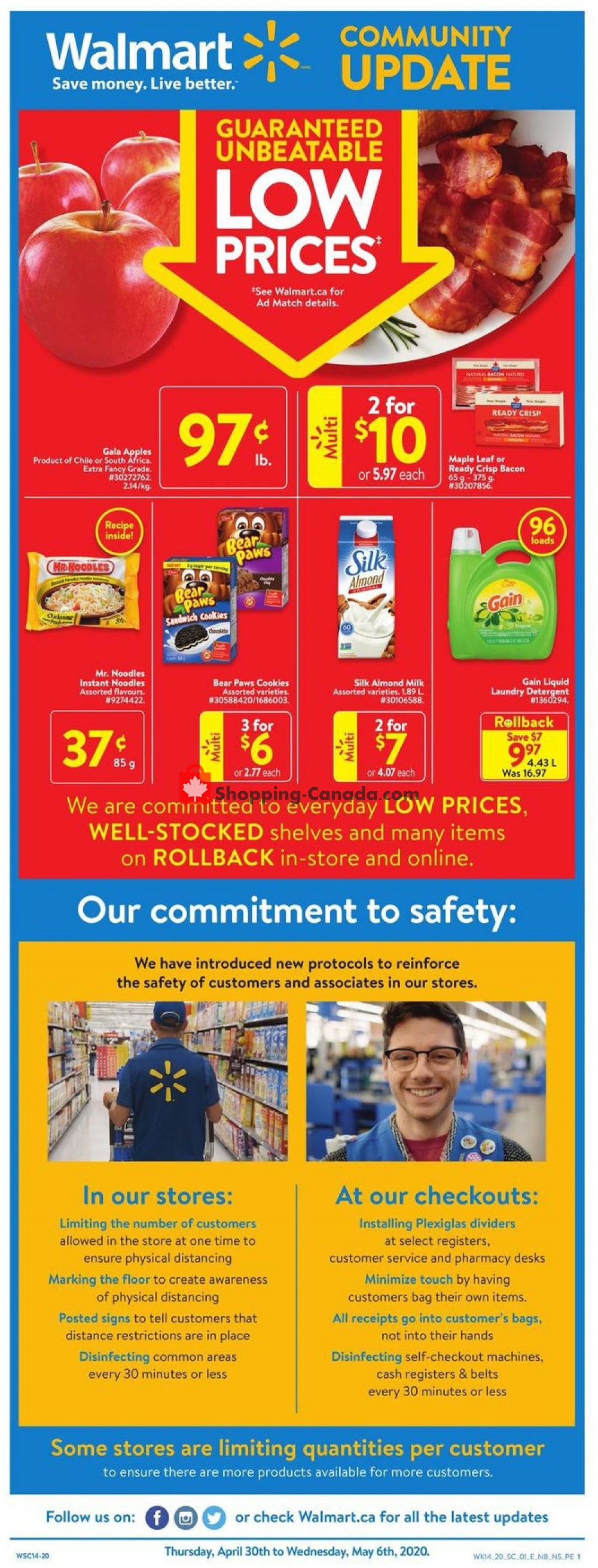 Flyer Walmart Canada - from Thursday April 30, 2020 to Wednesday May 6, 2020