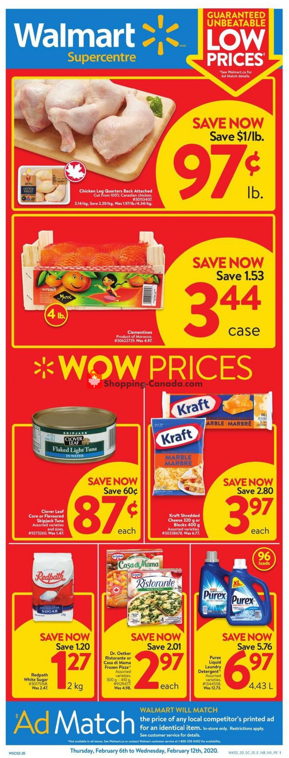 Flyer Walmart Canada - from Thursday February 6, 2020 to Wednesday February 12, 2020