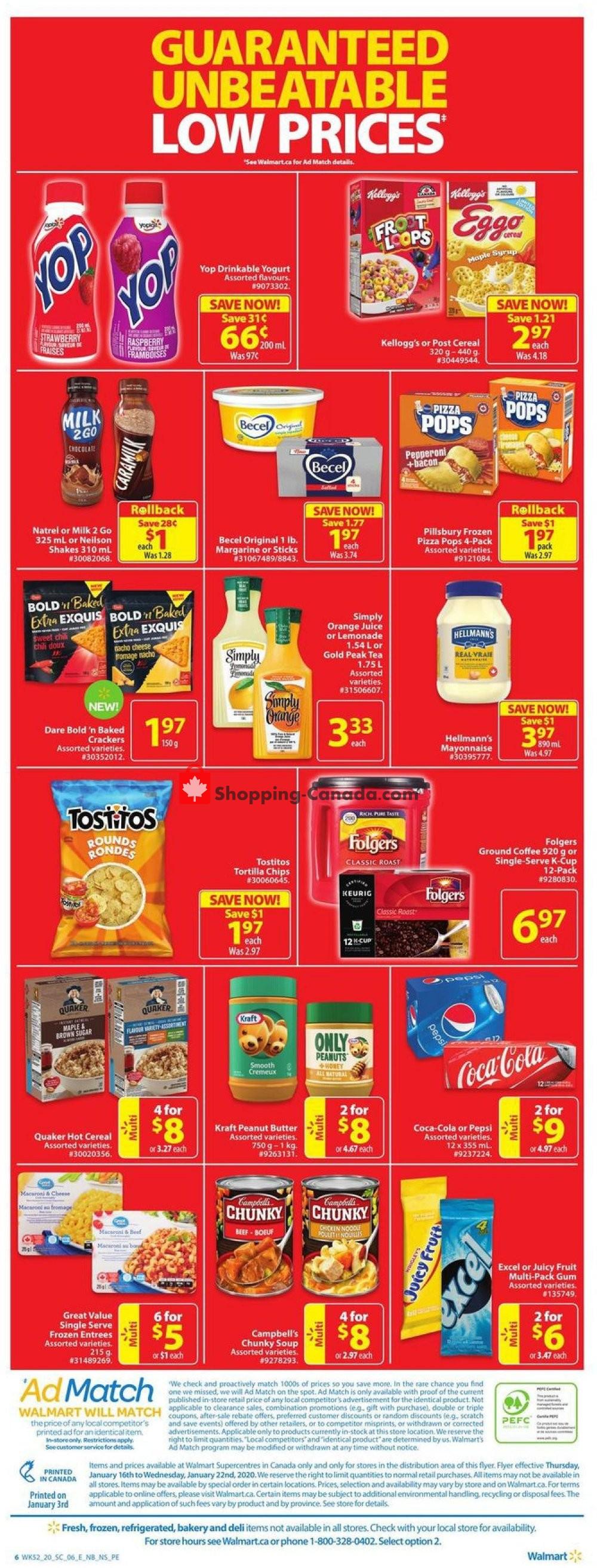 Flyer Walmart Canada - from Thursday January 16, 2020 to Wednesday January 22, 2020