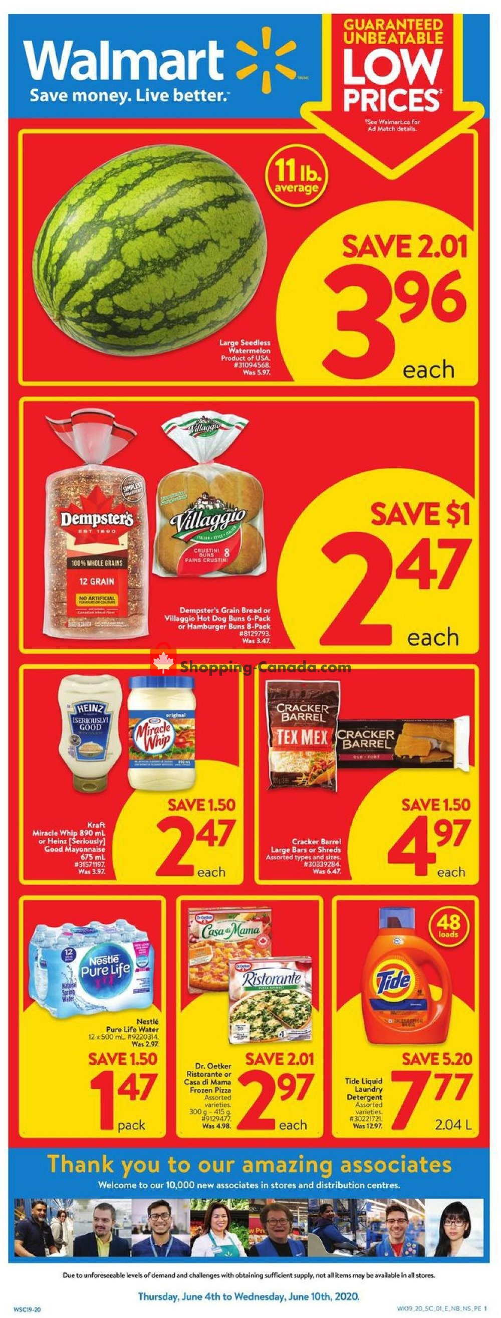 Flyer Walmart Canada - from Thursday June 4, 2020 to Wednesday June 10, 2020