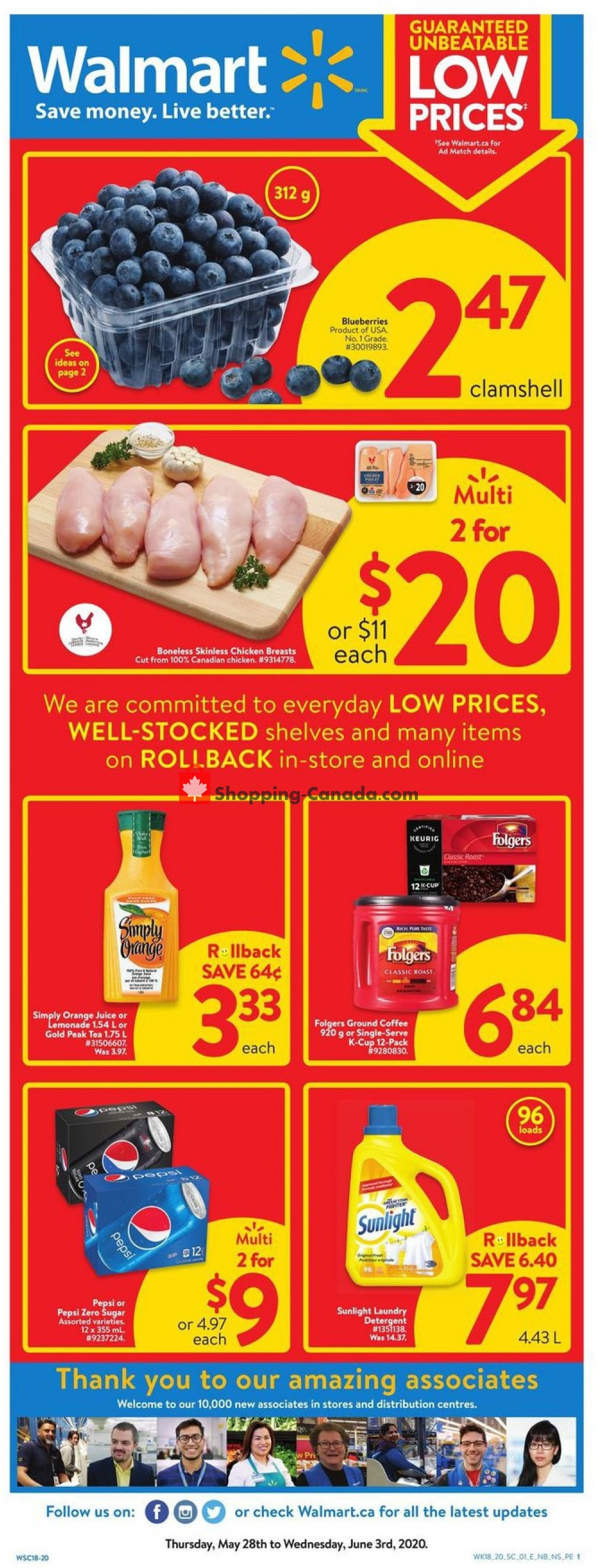 Flyer Walmart Canada - from Thursday May 28, 2020 to Wednesday June 3, 2020