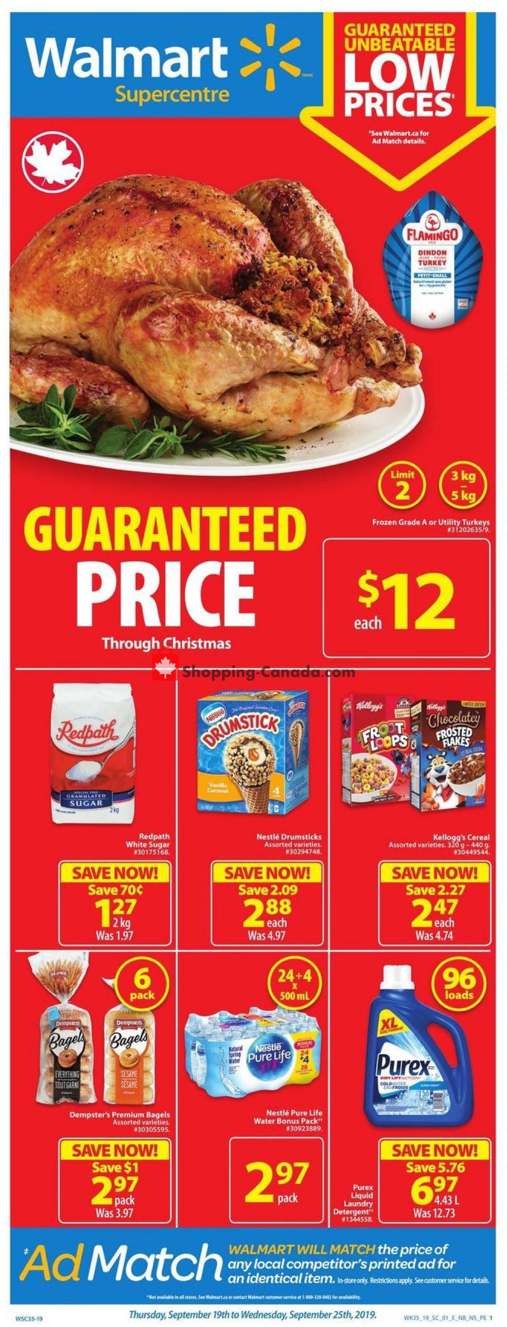 Flyer Walmart Canada - from Thursday September 19, 2019 to Wednesday September 25, 2019