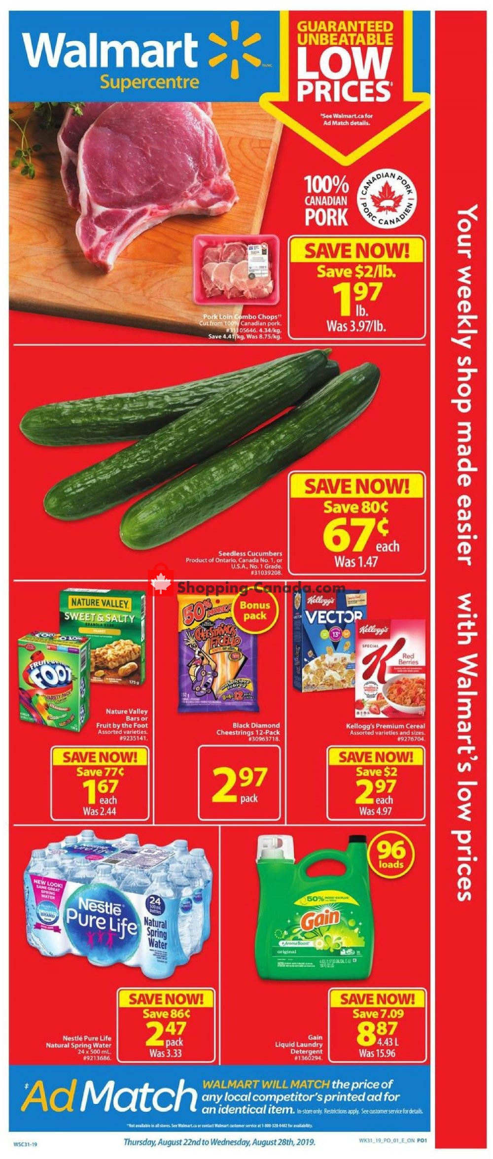 Flyer Walmart Canada - from Thursday August 22, 2019 to Wednesday August 28, 2019