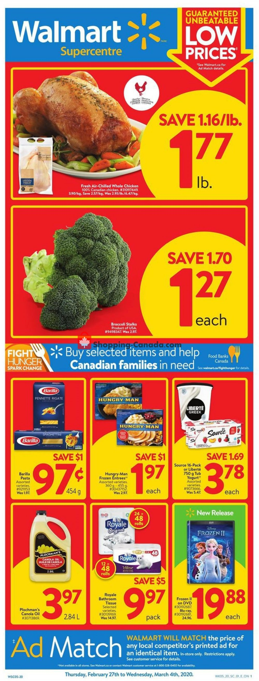 Flyer Walmart Canada - from Thursday February 27, 2020 to Wednesday March 4, 2020