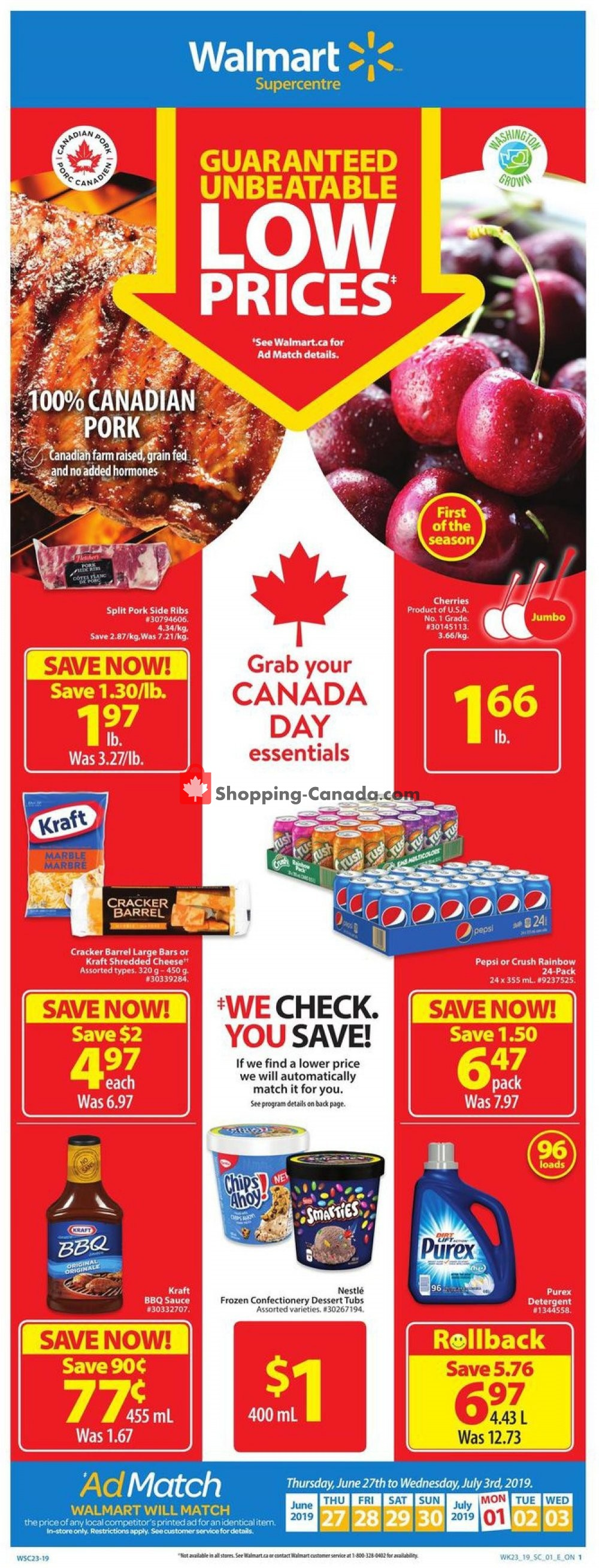 Flyer Walmart Canada - from Thursday June 27, 2019 to Wednesday July 3, 2019