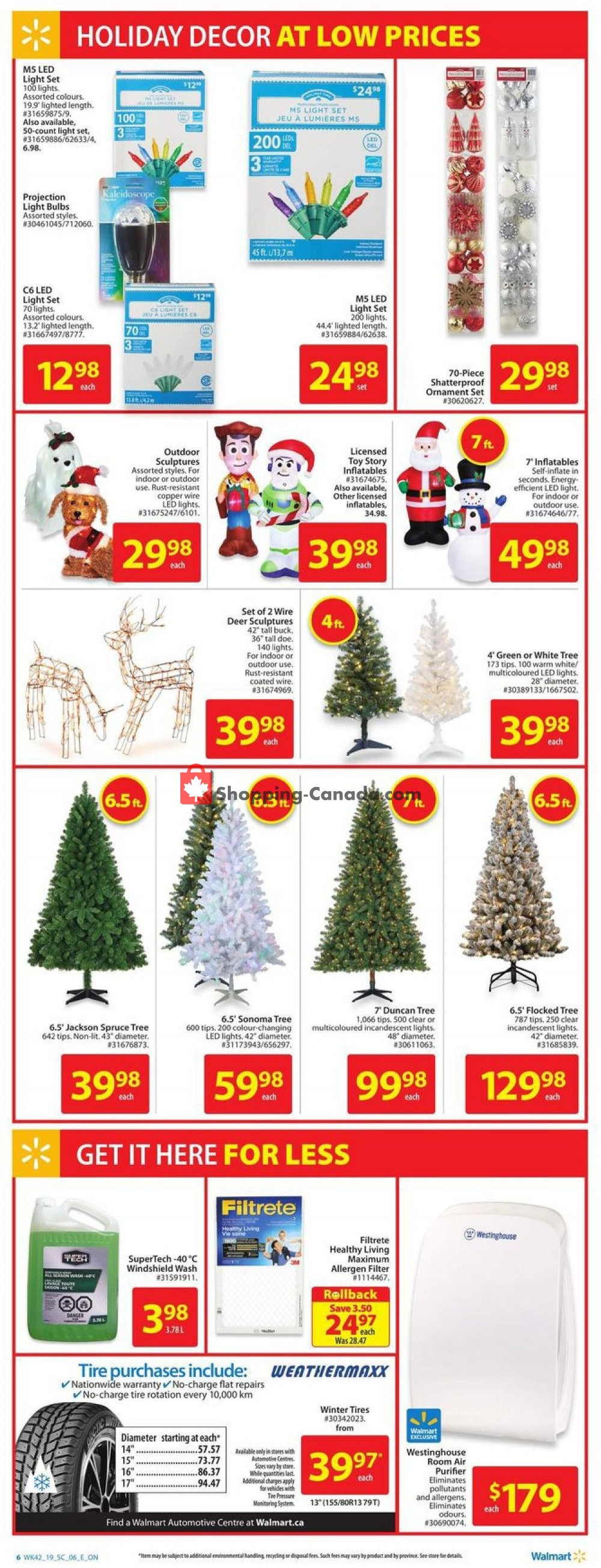 Flyer Walmart Canada - from Thursday November 7, 2019 to Wednesday November 13, 2019