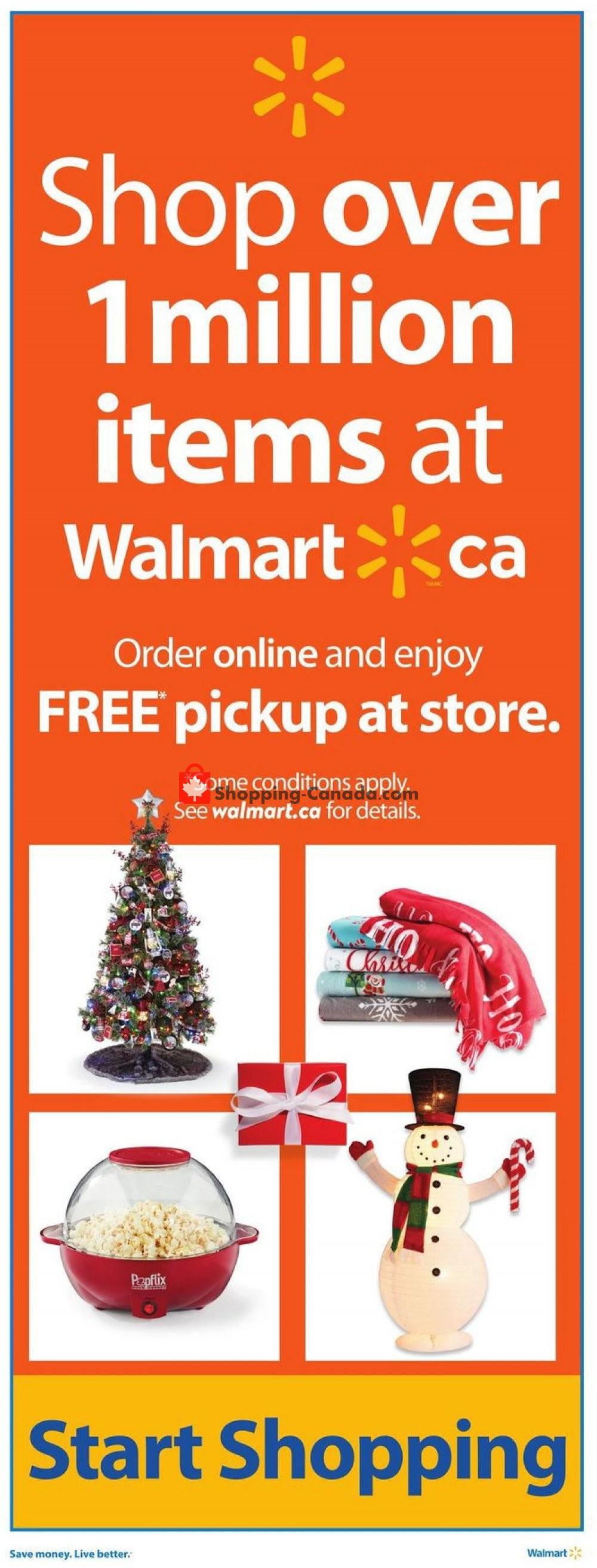 Flyer Walmart Canada - from Thursday November 7, 2019 to Wednesday November 13, 2019