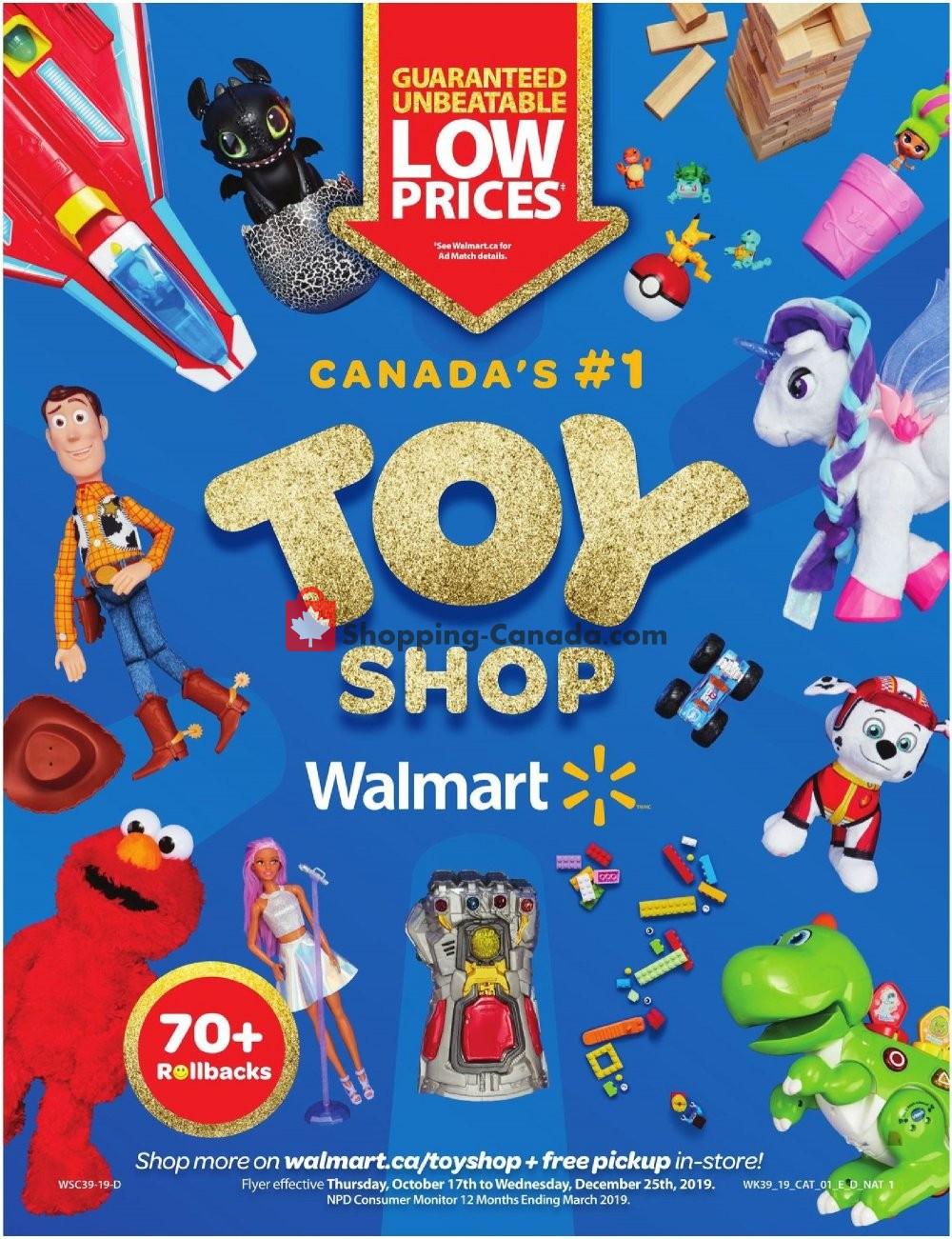 Flyer Walmart Canada - from Thursday October 17, 2019 to Wednesday December 25, 2019