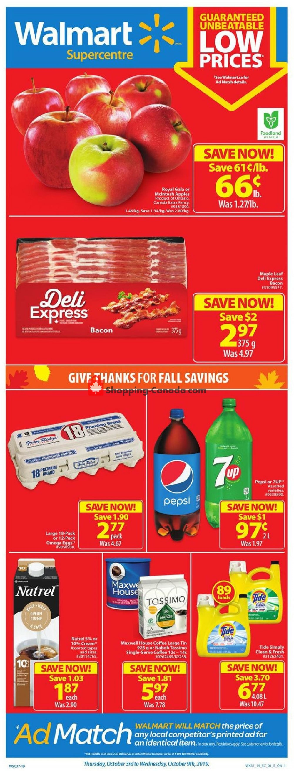 Flyer Walmart Canada - from Thursday October 3, 2019 to Wednesday October 9, 2019