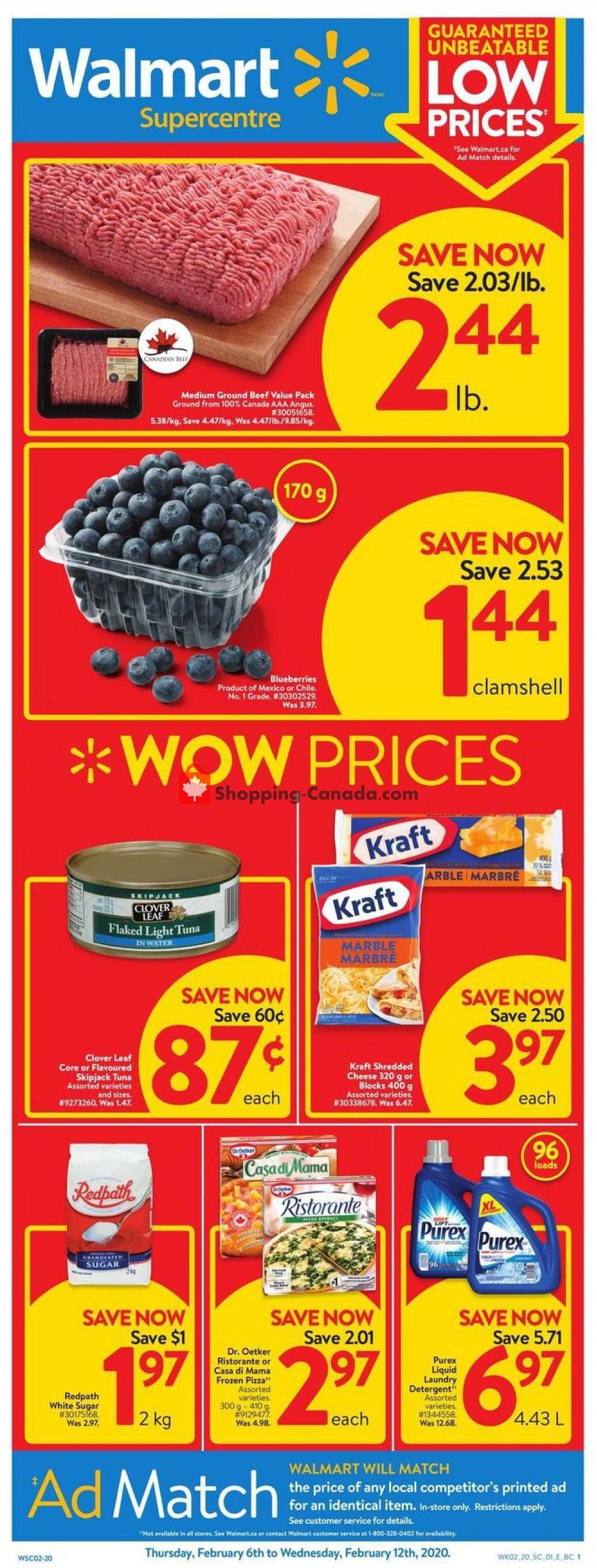 Flyer Walmart Canada - from Thursday February 6, 2020 to Wednesday February 12, 2020