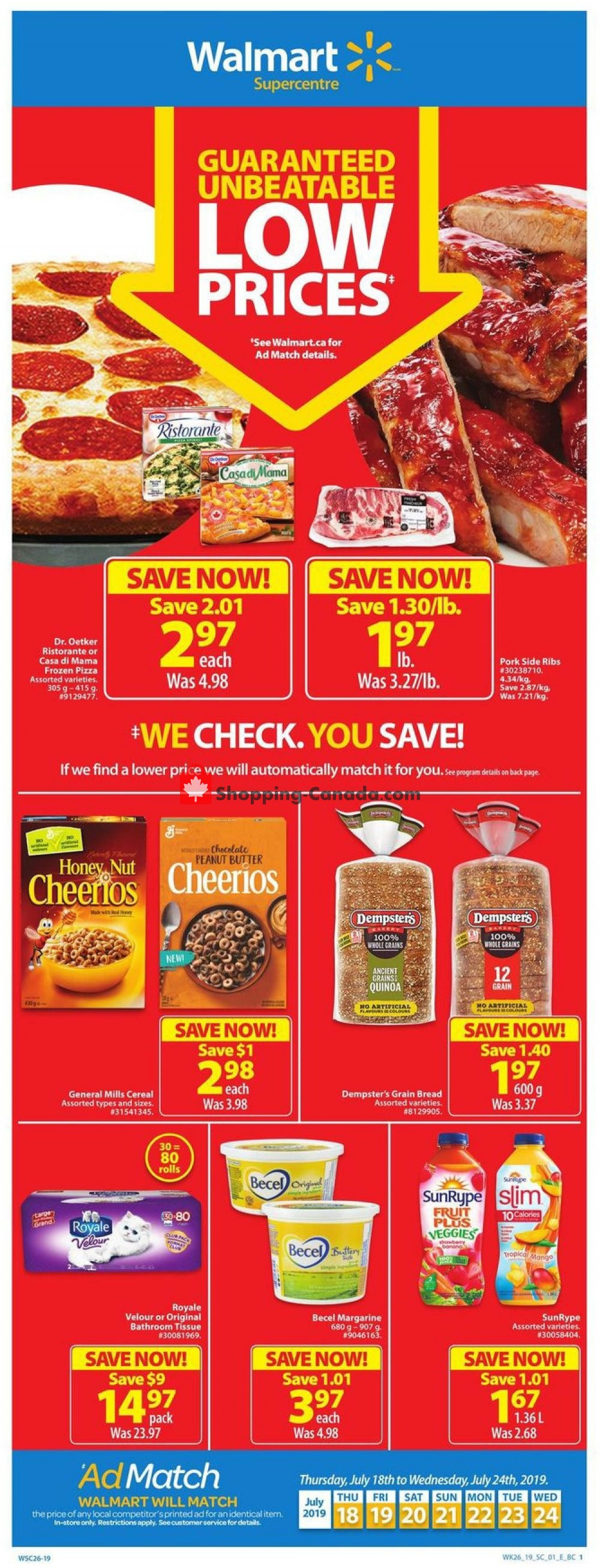 Flyer Walmart Canada - from Thursday July 18, 2019 to Wednesday July 24, 2019