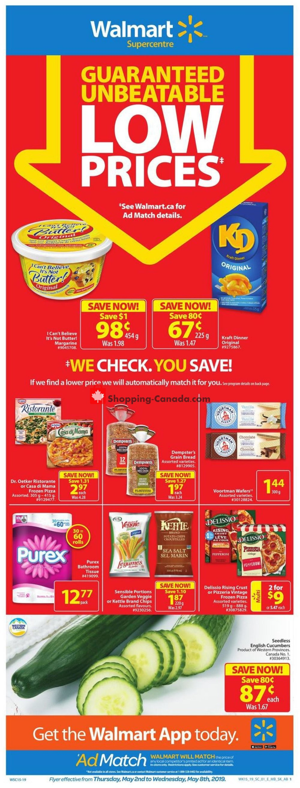 Flyer Walmart Canada - from Thursday May 2, 2019 to Wednesday May 8, 2019