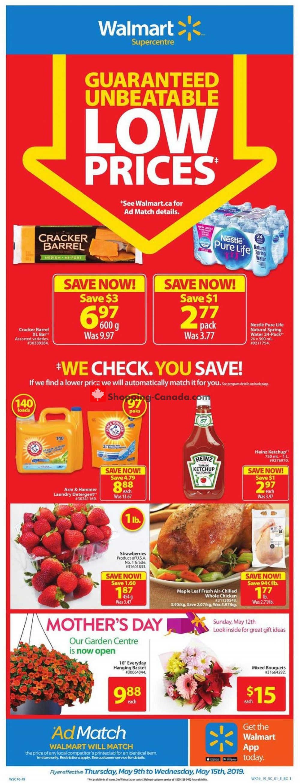Flyer Walmart Canada - from Thursday May 9, 2019 to Wednesday May 15, 2019