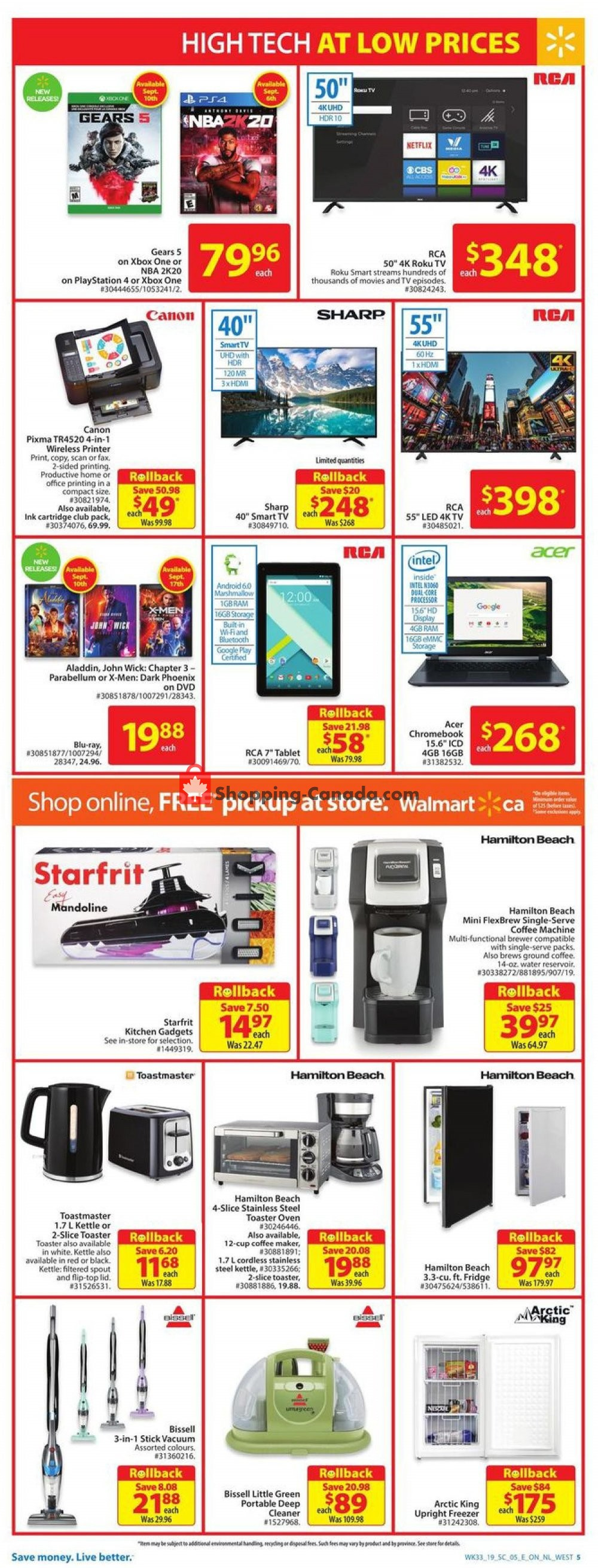 Flyer Walmart Canada - from Thursday September 5, 2019 to Wednesday September 11, 2019