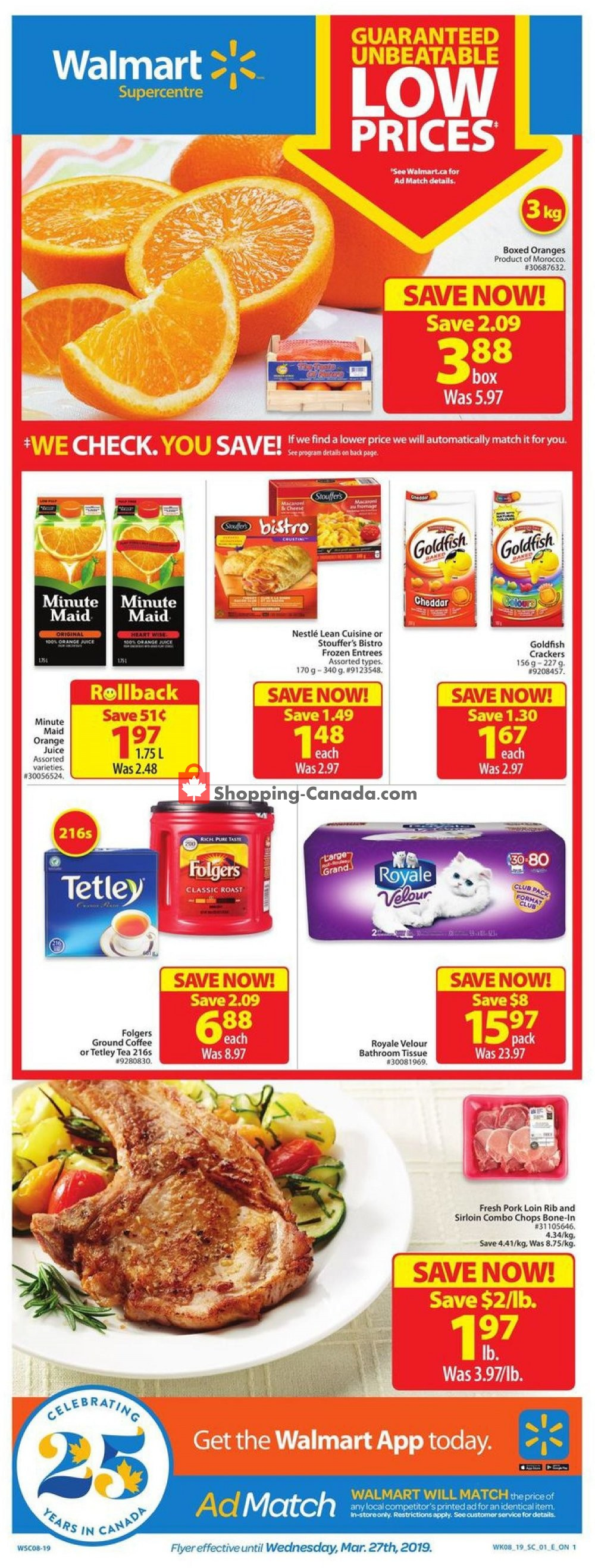 Flyer Walmart Canada - from Thursday March 14, 2019 to Wednesday March 27, 2019