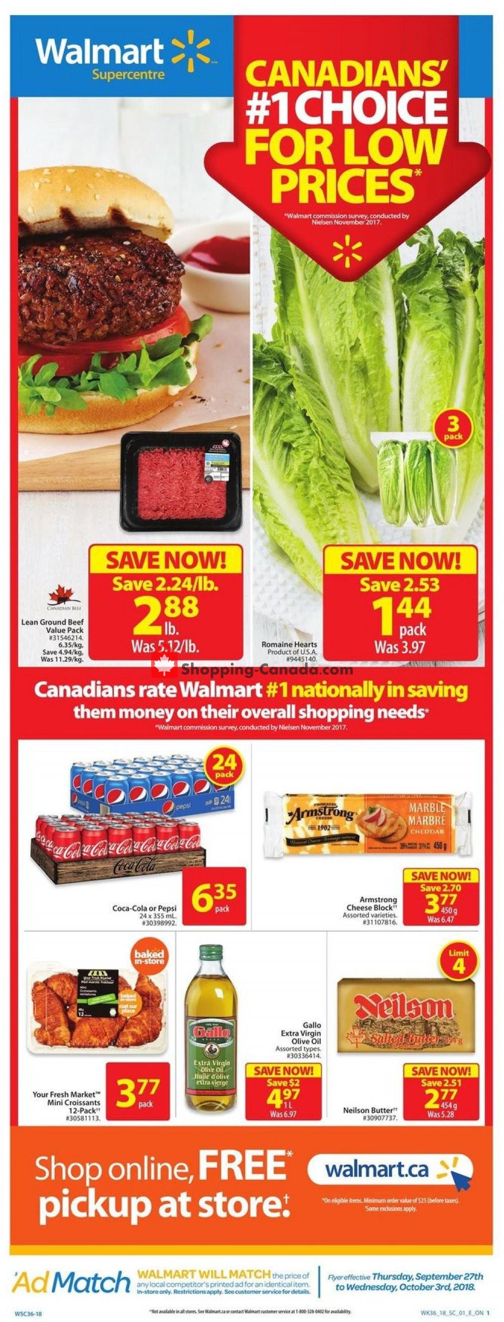 Flyer Walmart Canada - from Thursday September 27, 2018 to Wednesday October 3, 2018