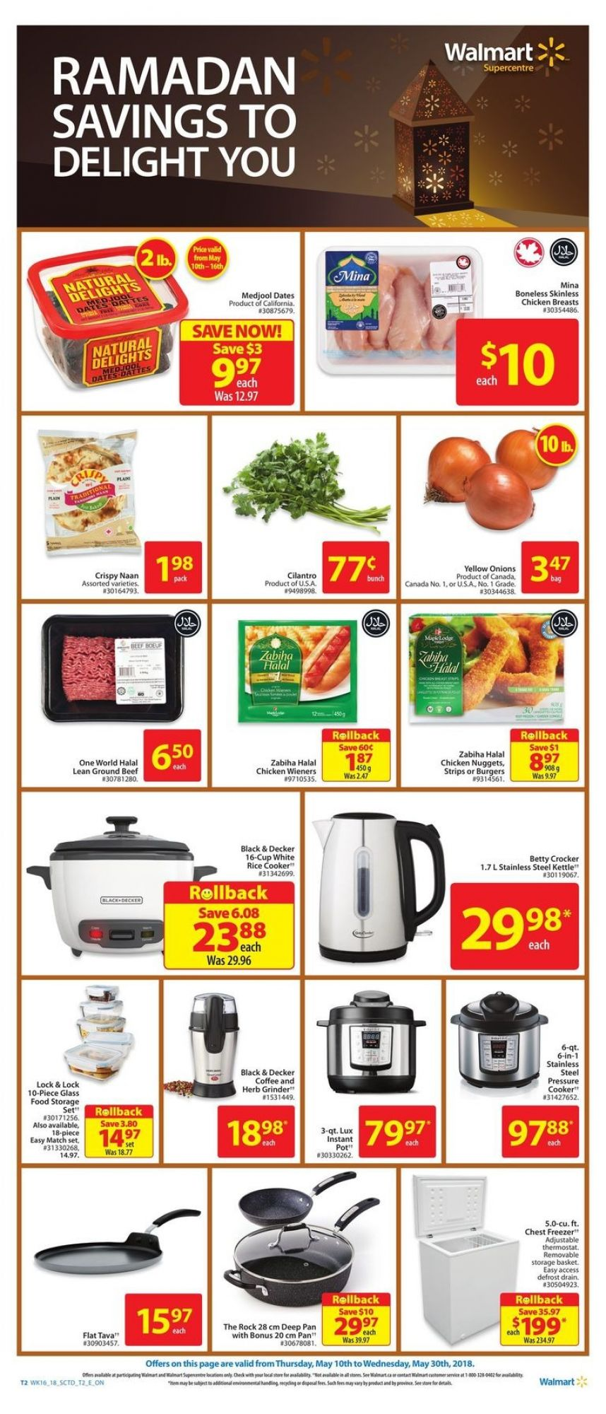Flyer Walmart Canada - from Thursday May 10, 2018 to Wednesday May 30, 2018