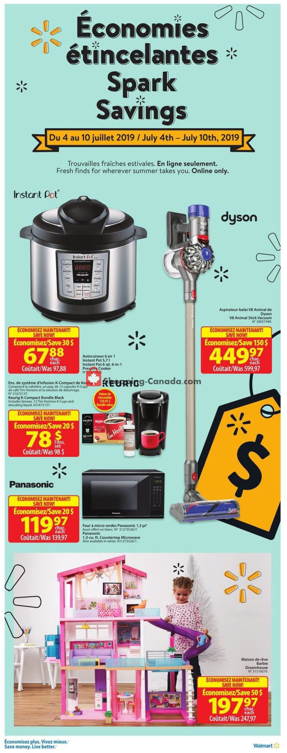 Flyer Walmart Canada - from Thursday July 4, 2019 to Wednesday July 10, 2019