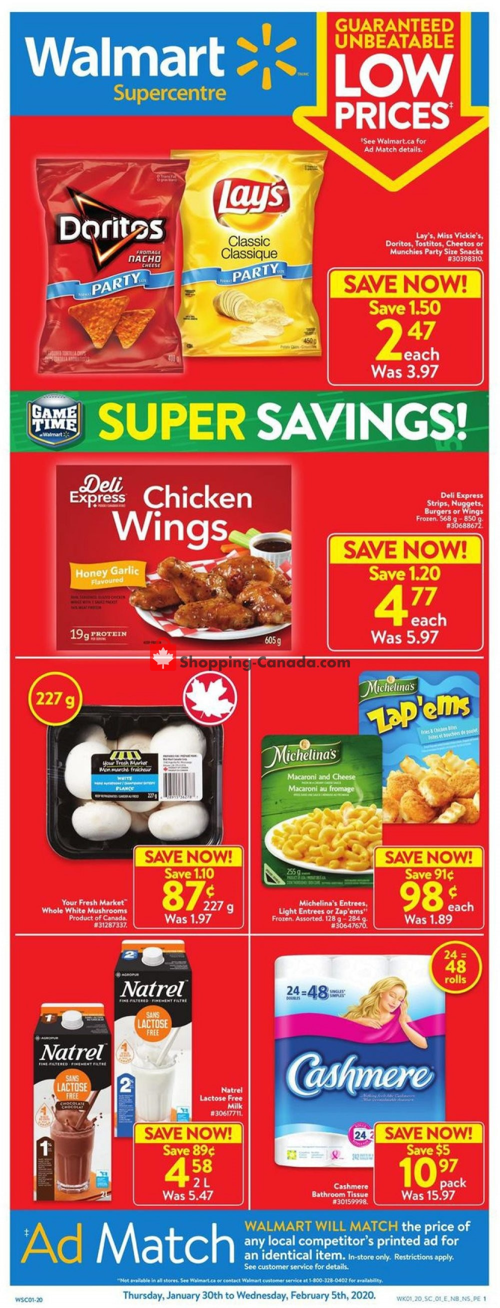 Flyer Walmart Canada - from Thursday January 30, 2020 to Wednesday February 5, 2020