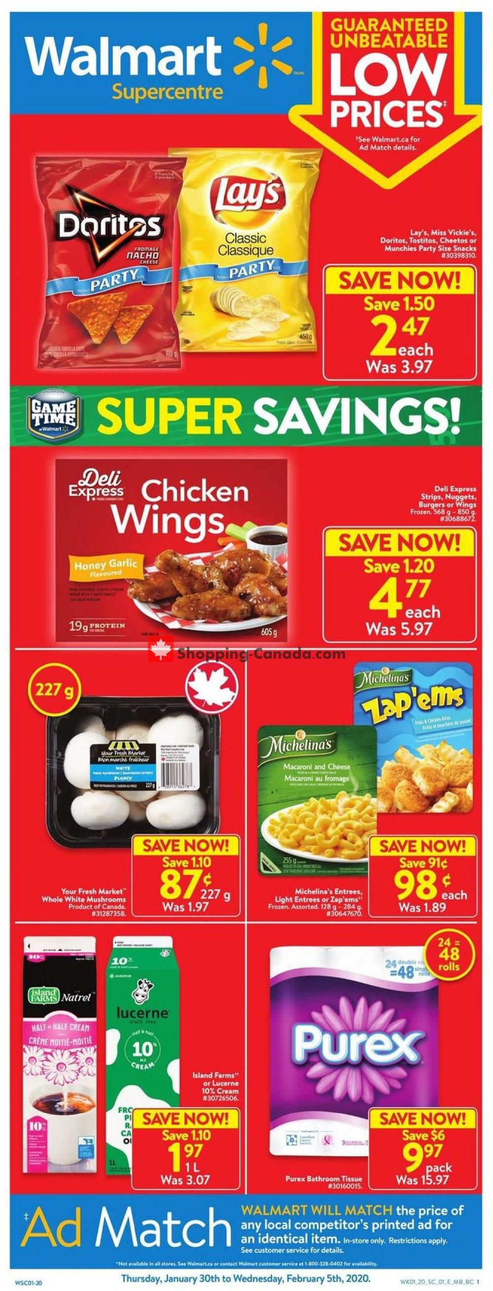 Flyer Walmart Canada - from Thursday January 30, 2020 to Wednesday February 5, 2020