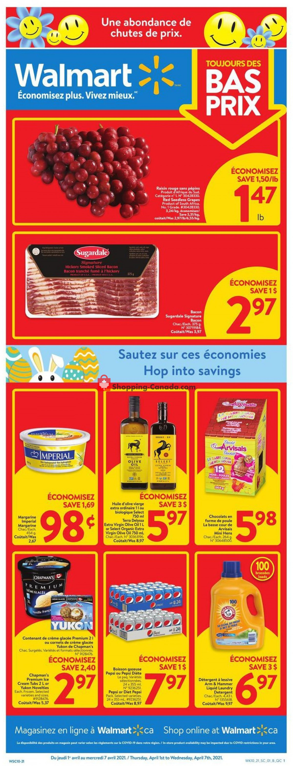 Flyer Walmart Canada - from Thursday April 1, 2021 to Wednesday April 7, 2021