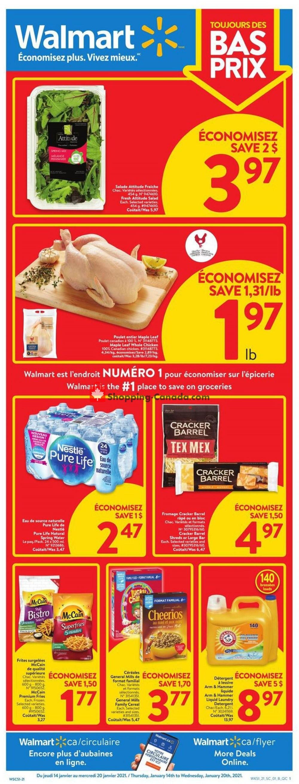 Flyer Walmart Canada - from Thursday January 14, 2021 to Wednesday January 20, 2021