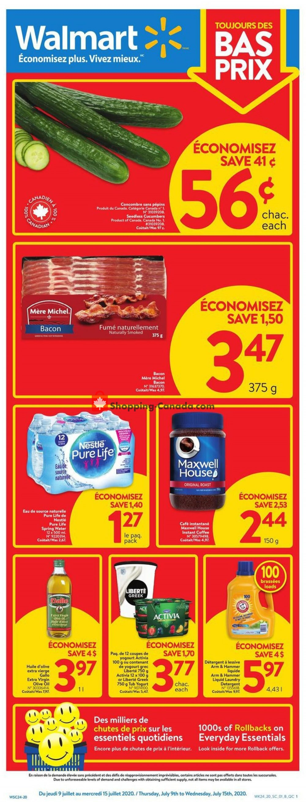 Flyer Walmart Canada - from Thursday July 9, 2020 to Wednesday July 15, 2020