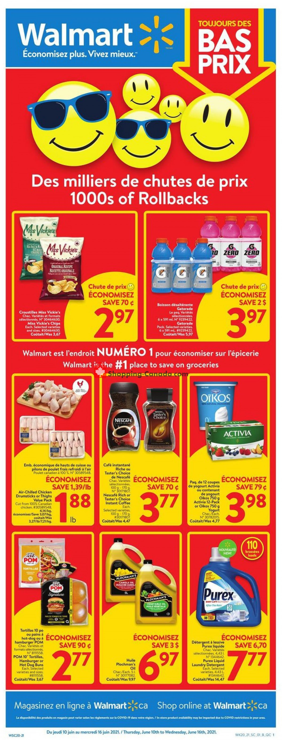 Flyer Walmart Canada - from Thursday June 10, 2021 to Wednesday June 16, 2021
