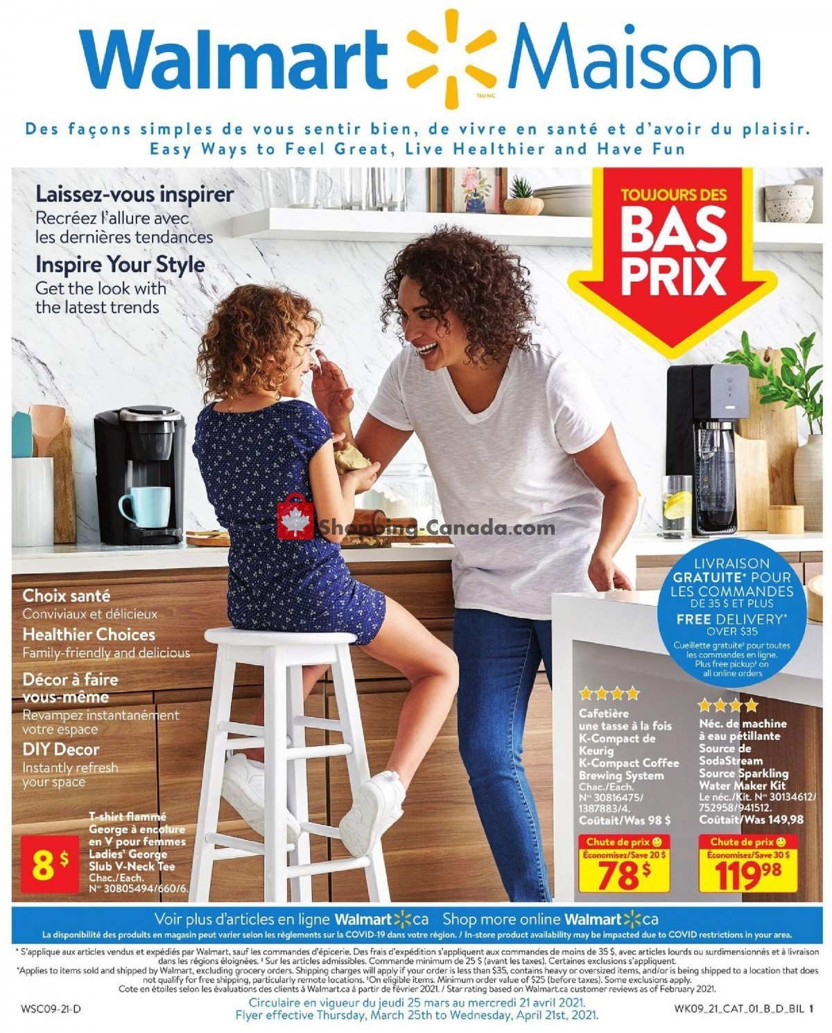 Flyer Walmart Canada - from Thursday March 25, 2021 to Wednesday April 21, 2021
