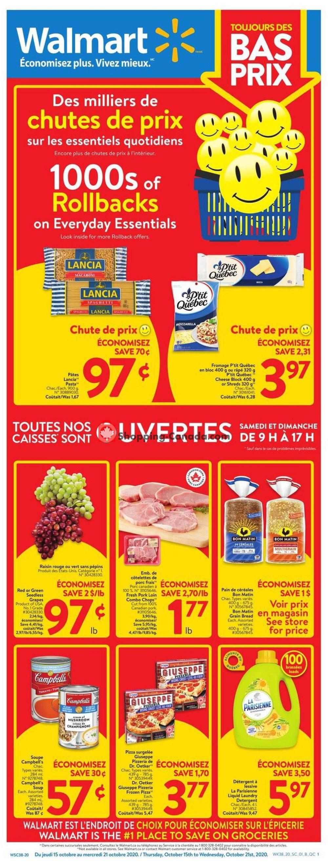 Flyer Walmart Canada - from Thursday October 15, 2020 to Wednesday October 21, 2020