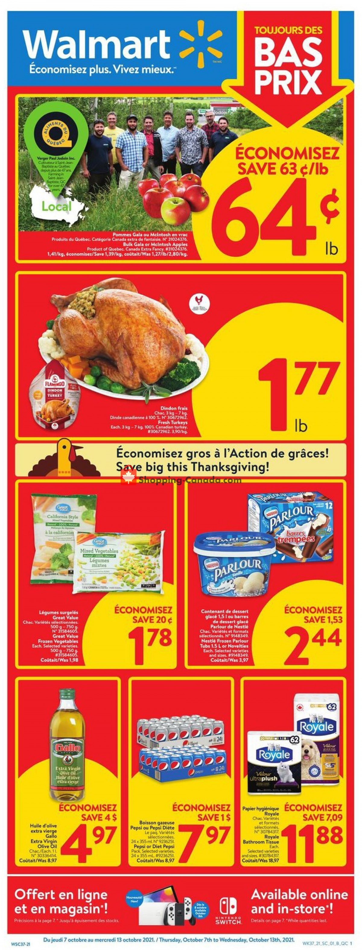 Flyer Walmart Canada - from Thursday October 7, 2021 to Wednesday October 13, 2021