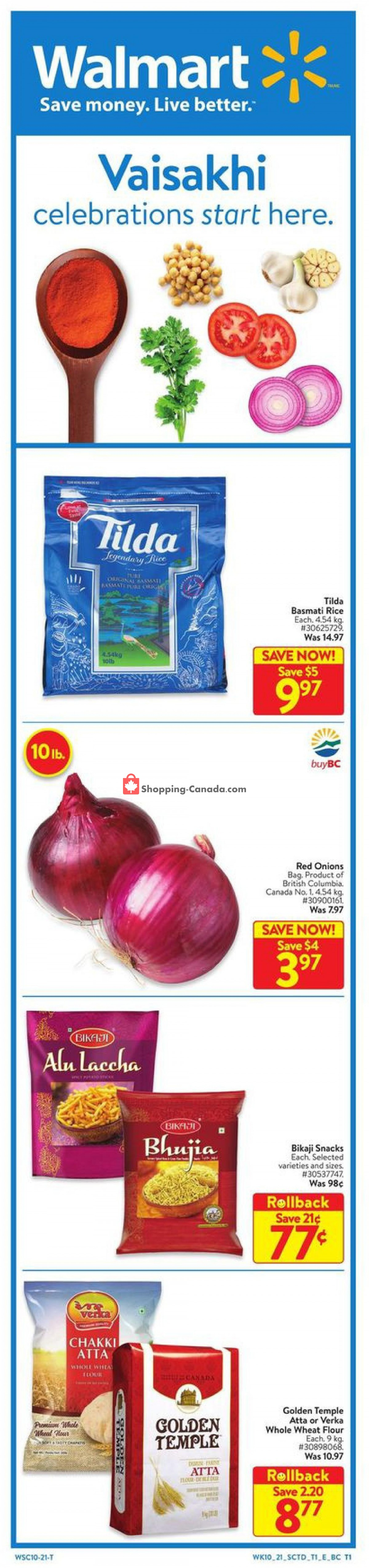Flyer Walmart Canada - from Thursday April 1, 2021 to Wednesday April 14, 2021