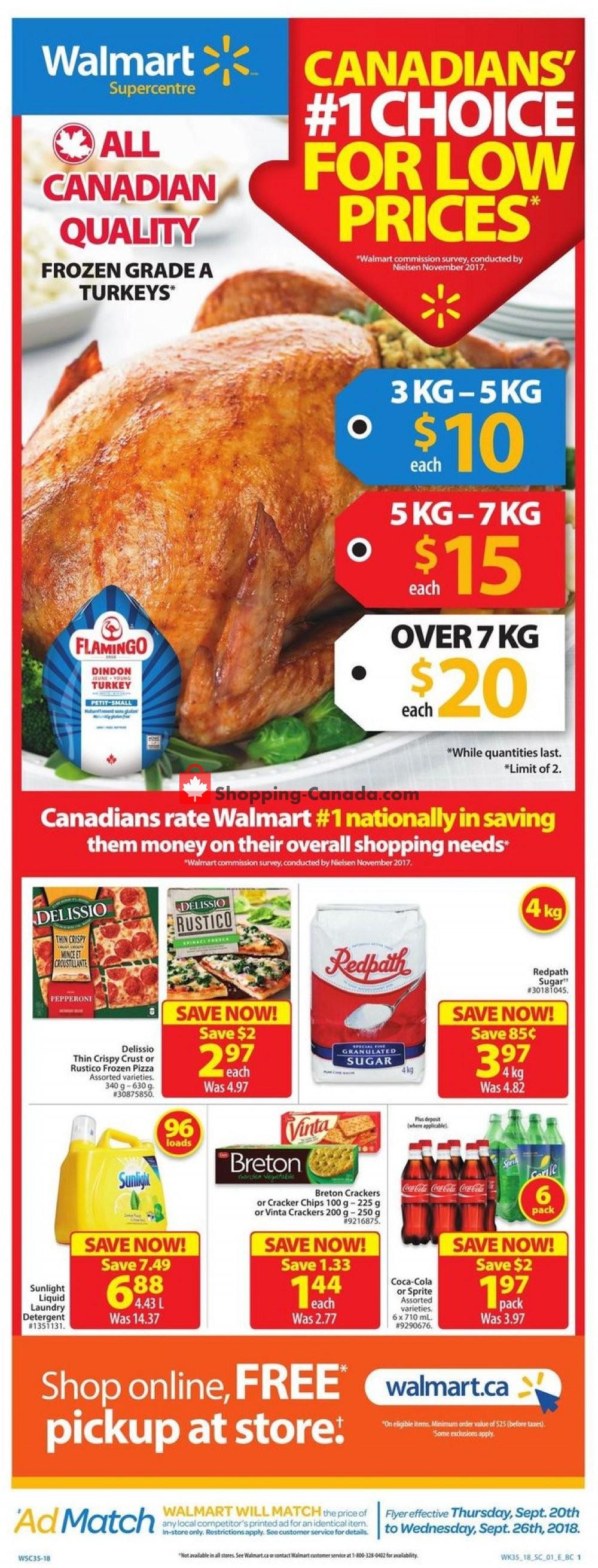 Flyer Walmart Canada - from Thursday September 20, 2018 to Wednesday September 26, 2018