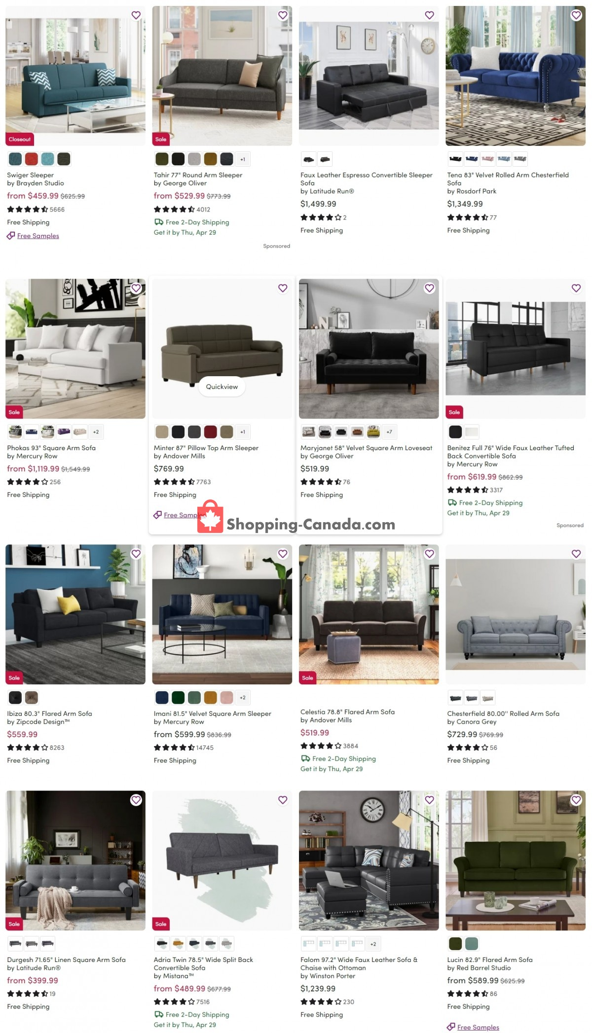 Flyer Wayfair Canada - from Tuesday April 27, 2021 to Monday May 3, 2021