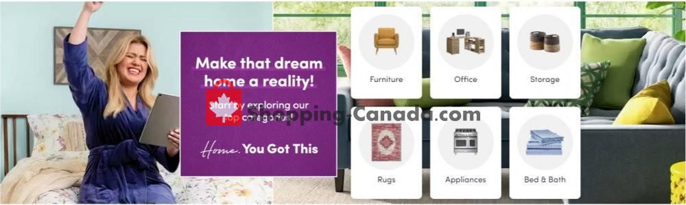 Flyer Wayfair Canada - from Thursday April 23, 2020 to Wednesday April 29, 2020
