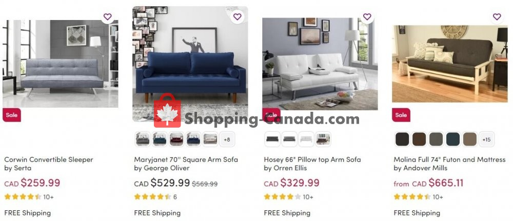 Flyer Wayfair Canada - from Wednesday August 5, 2020 to Tuesday August 11, 2020