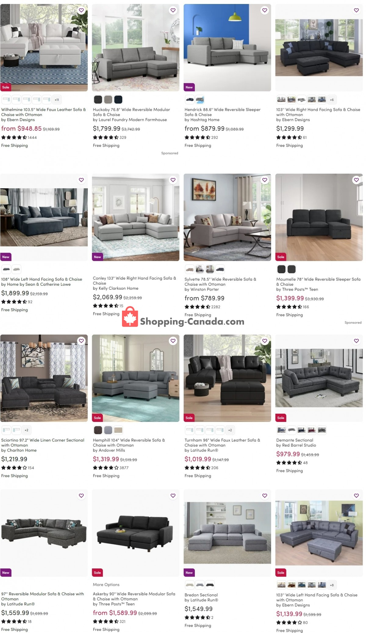 Flyer Wayfair Canada - from Friday April 2, 2021 to Thursday April 8, 2021