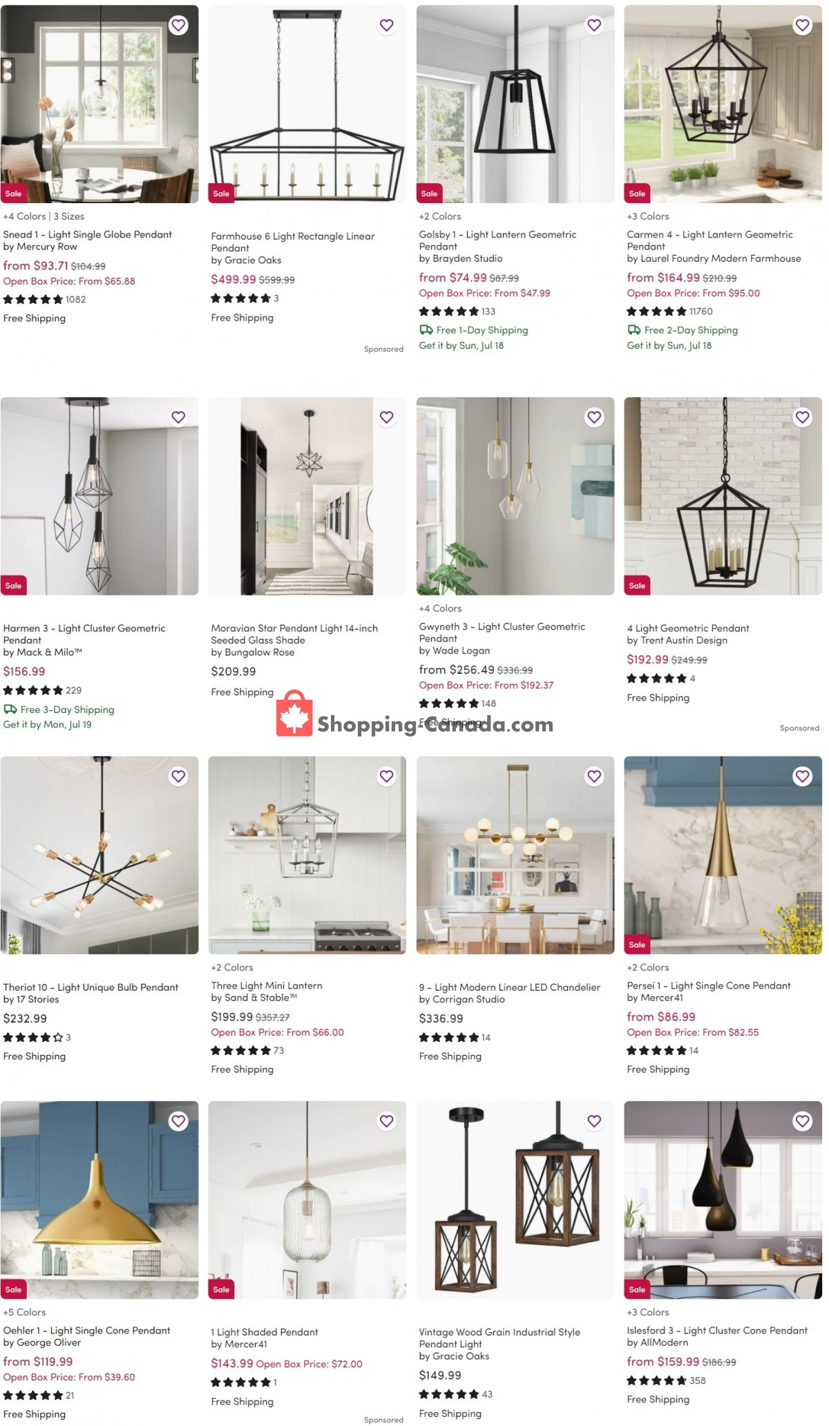 Flyer Wayfair Canada - from Wednesday July 14, 2021 to Tuesday July 20, 2021